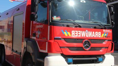 Afvalbrand in Nerenbroekstraat, ladder op E40