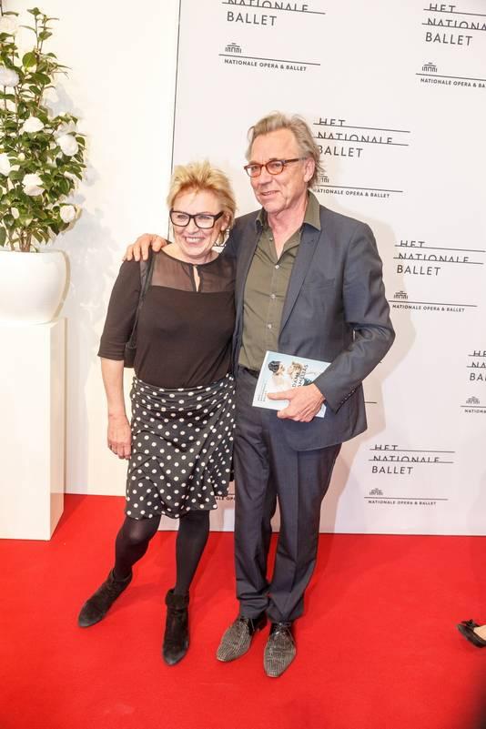 Jan met Johanna tijdens een voorstelling van het Nationale Ballet in Amsterdam.