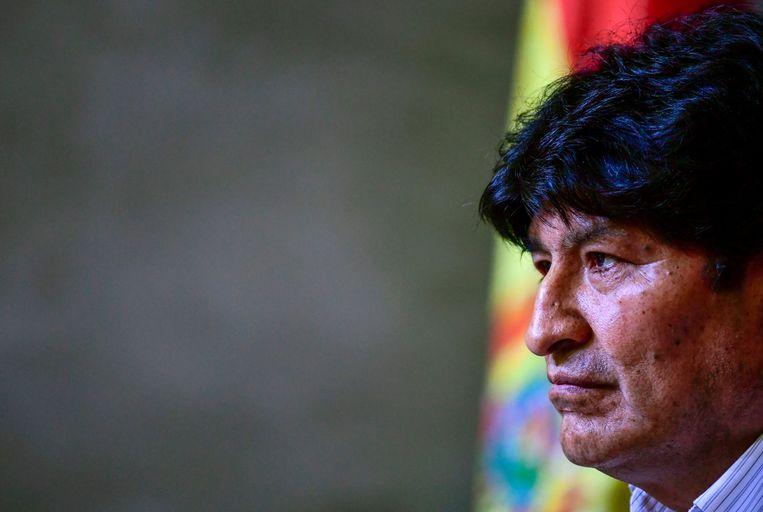 Evo Morales begin dit jaar. Beeld AFP