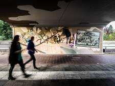 Kunstwerk in spoortunnel Arnhem al beklad voordat het af is: 'Buitengewoon triest'