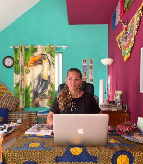 Thuiswerken kan overal dacht docente Noy Singer en dus vertrok ze naar Kaapverdië