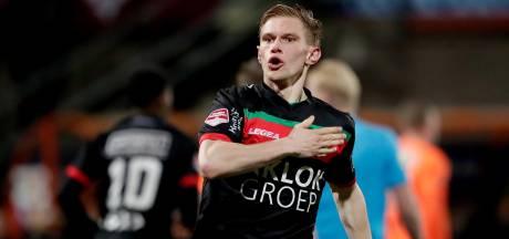NEC'er Van Landschoot strijdbaar na verlies basisplaats: 'Het hoort bij voetbal'