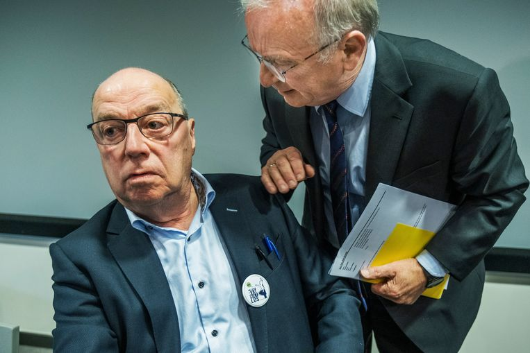 Leo Hellemans en Luc Van den Brande. Beeld Tim Dirven