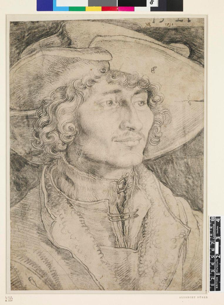 Albrecht Dürer, Portret van een jonge man, 1521. Beeld British Museum