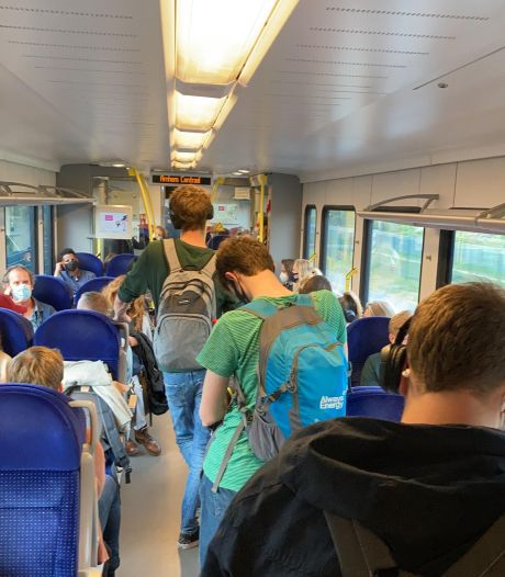 Overvolle trein vanuit de Achterhoek op Moederdag: 'Mensen hijgden bij elkaar in de nek'