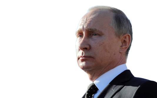 Vladimir Poetin (R).