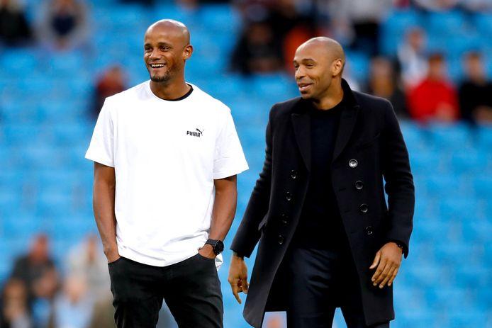 Vincent Kompany et Thierry Henry
