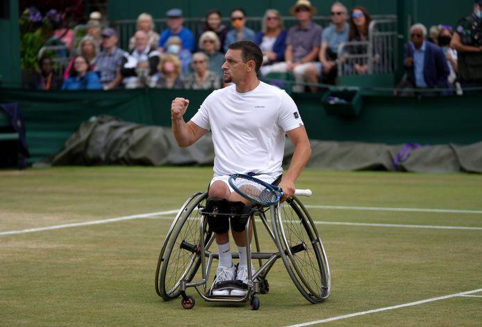 Rolstoeltennisser Joachim Gérard won eerder dit jaar nog Wimbledon.