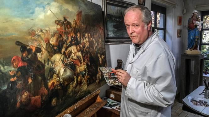 Schilderij rond Guldensporenslag wordt in ere hersteld en krijgt plaats in Onze-Lieve-Vrouwekerk