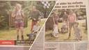 Zelfs in Frankrijk kwam Willemijn met haar wandeltocht voor een handicapvriendelijke speeltuin in Apeldoorn in het nieuws,  in de krant Vosges Matin