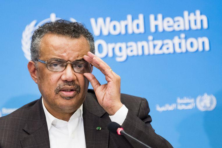 Tedros Adhanom Ghebreyesus, directeur-generaal van de WHO.  Beeld EPA