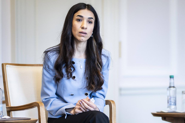 Mensenrechtenactiviste Nadia Murad: 'Het kan te laat lijken om de genocide aan te kaarten, maar geloof mij: erkenning en actie zijn crucialer dan ooit.' Beeld BELGAIMAGE