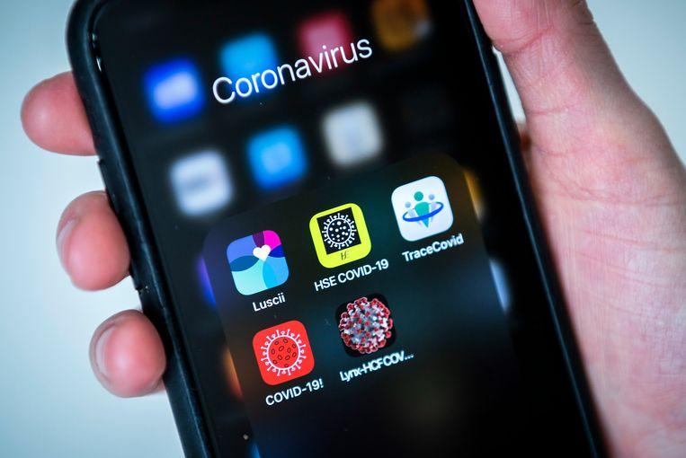 Een aantal bestaande corona-apps, waaronder de app Luscii, ontwikkeld door het ziekenhuis OLVG. Beeld ANP