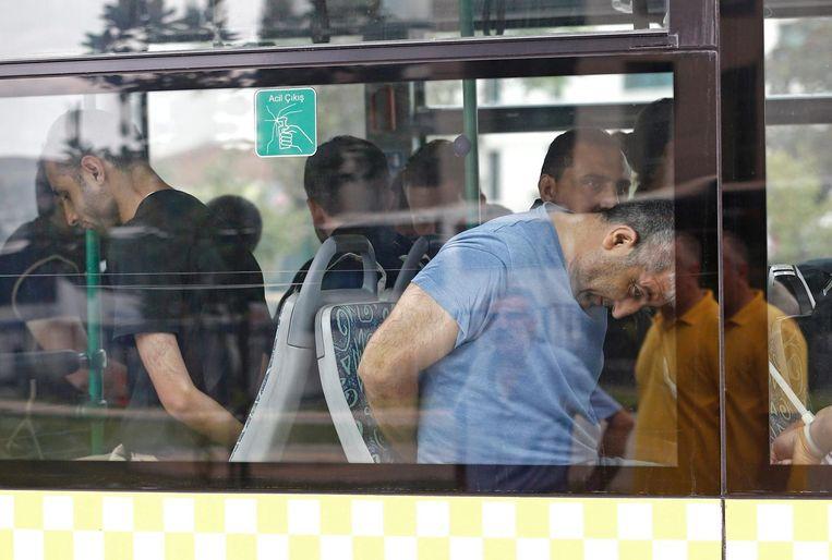 Turkse arrestanten Beeld epa