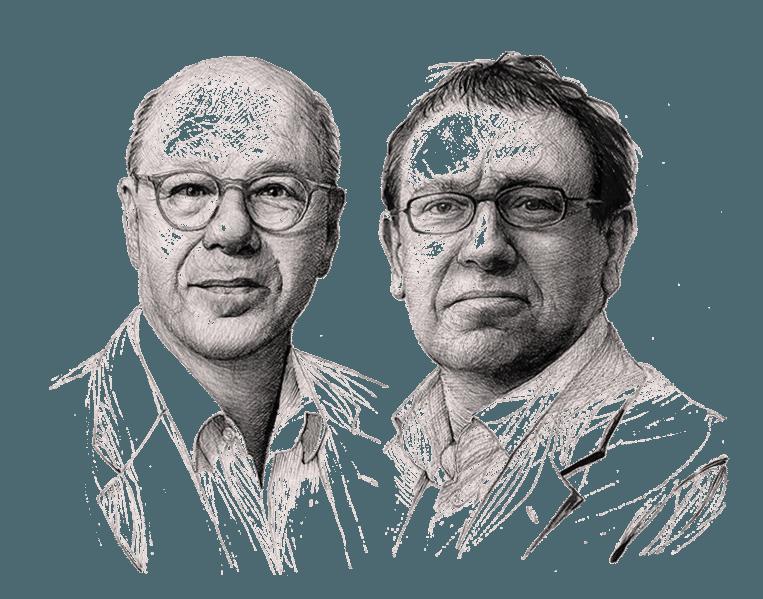 Max Pam (l) en Paul Brill Beeld Artur Krynicki