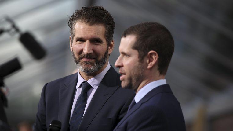 Game of Thrones-makers David Benioff (links) en Dan Weiss. Beeld reuters