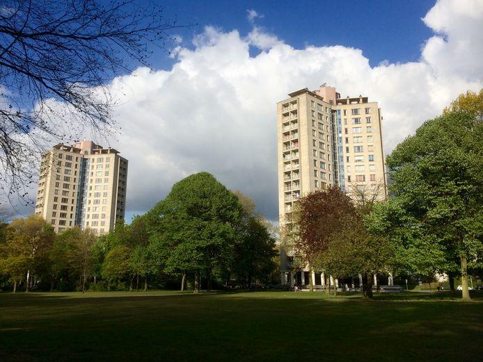 Het Kielpark met twee van de drie Kielparktorens.