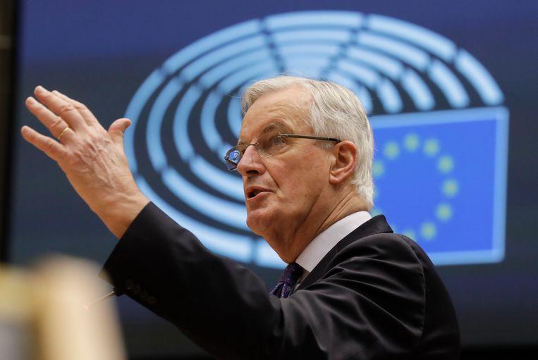 Voormalig EU-onderhandelaar voor de brexit, de Fransman Michel Barnier (70). Beeld AP
