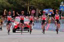 De Lotto-renners, na een zege van Caleb Ewan eerder deze Giro. Enkel Harm Vanhoucke en Stefano Oldani zitten nog in koers.