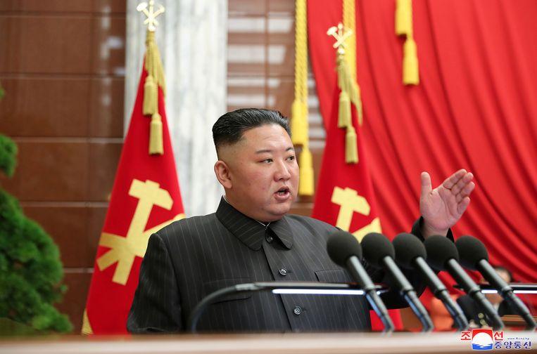 De vermagerde Noord-Koreaanse leider Kim Jong-un. Beeld via Reuters