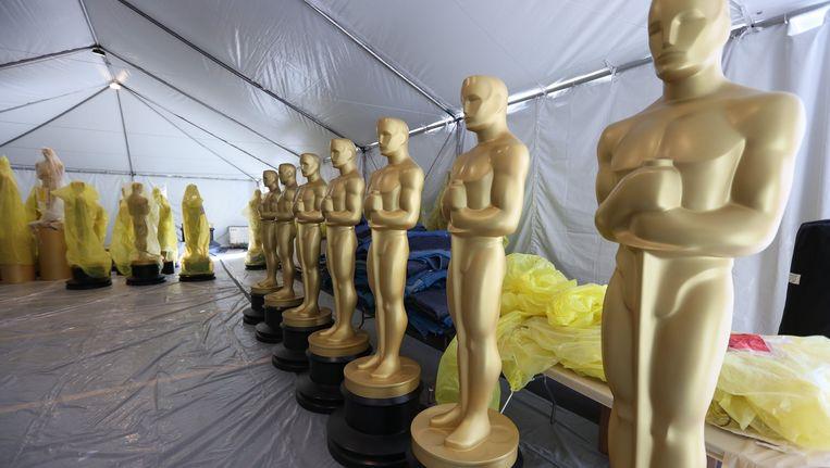 In LA zijn de voorbereidingen voor de Oscaruitreiking in volle gang. Beeld Photo News