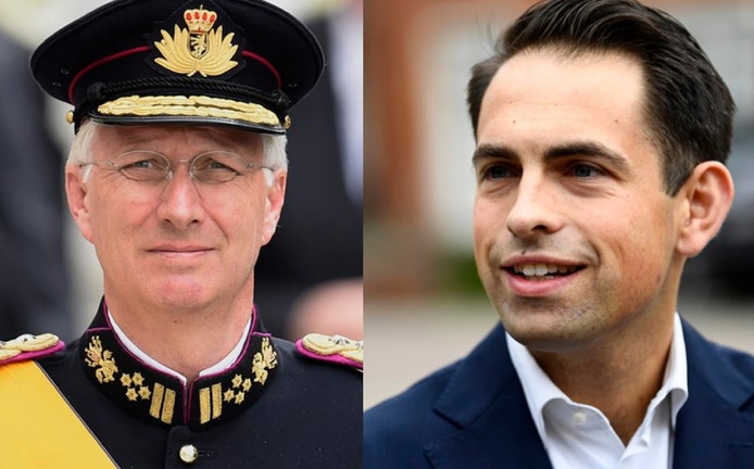 Le Roi Philippe et Tom Van Grieken