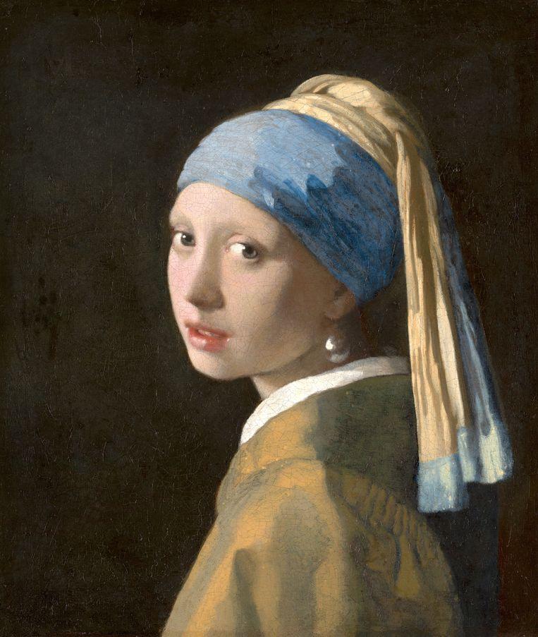 Johannes Vermeer, 'Meisje met de parel' (circa 1665) Beeld Mauritshuis, Den Haag