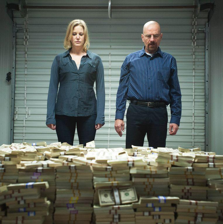 Beeld uit Breaking Bad: Anna Gunn en Bryan Cranston. Beeld ap