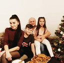 Oksana en Alexander Gorokhov en hun kinderen Arthur en Christina.