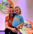 Nathan Rutjes met zijn 8-jarige zoontje Lavezzi.