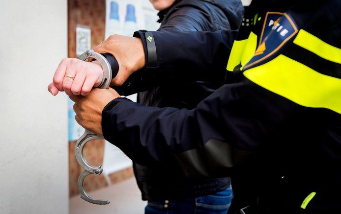 Beeld ter illustratie: politieagenten verrichten een aanhouding.