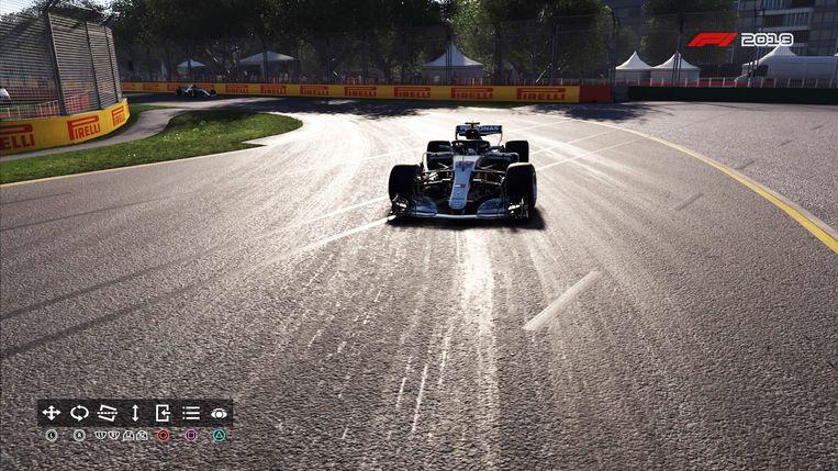 Screenshot uit F1 2018 - Je kan leuke screenshots maken in het spel.