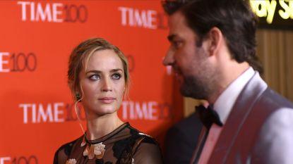 """Emily Blunt werkt voor het eerst samen met echtgenoot John Krasinski: """"Bang dat het zou botsen op de set"""""""