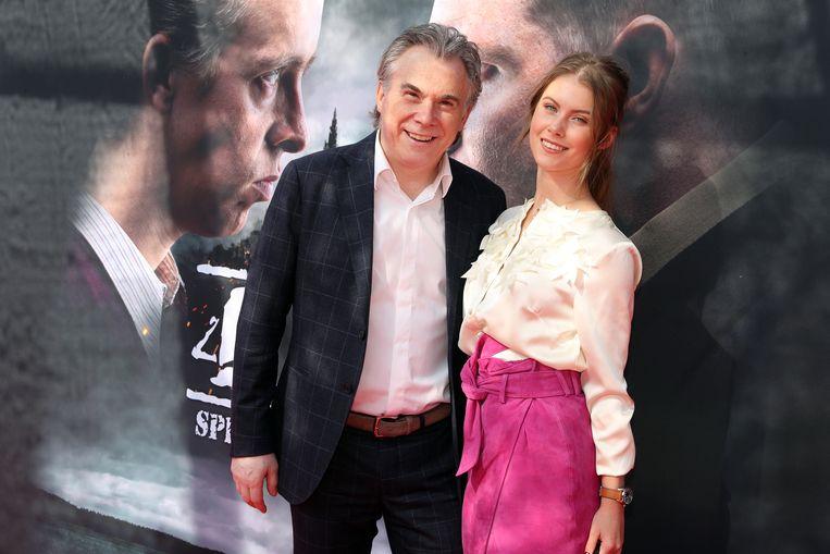 Chinouk, dochter van Dana Winner, en haar vader Wilfried Van Baelen.