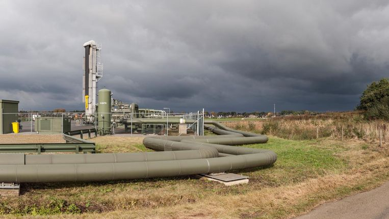 Oliewinning van de NAM in Schoonebeek. Beeld  Harry Cock