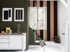 Een gestreepte muur in je huis trekt direct de aandacht