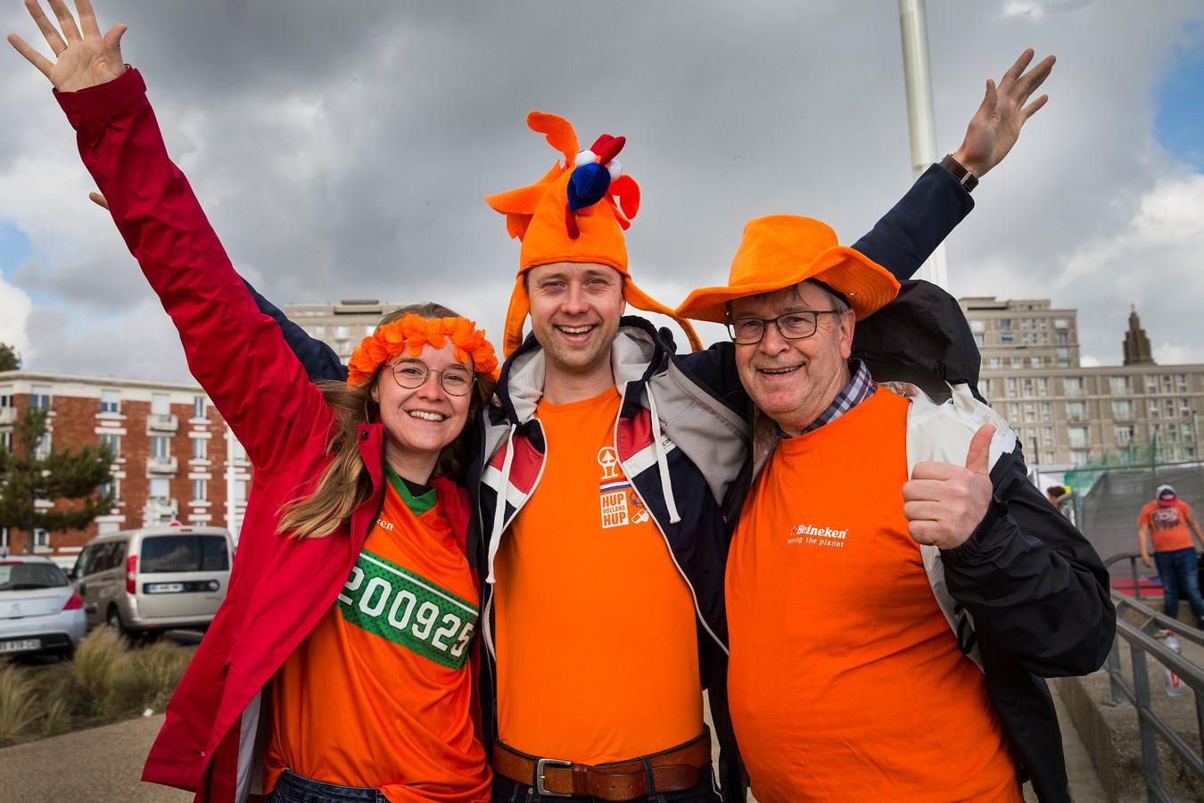Oranje-fans in Le Havre.