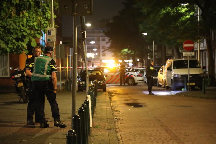 De politie doet onderzoek na de mogelijke schietpartij.