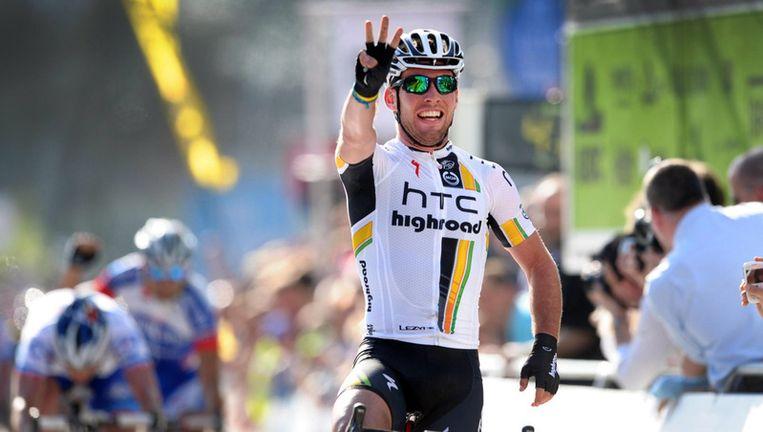 Cavendish won voor de derde keer in Schoten. Beeld AFP