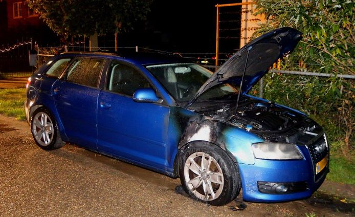 Auto in brand in Hedel.