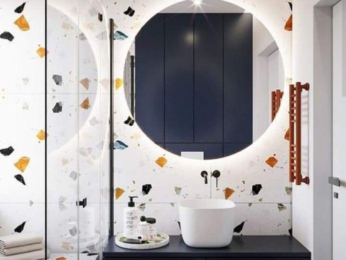 Een accentmuur geeft karakter aan je badkamer.