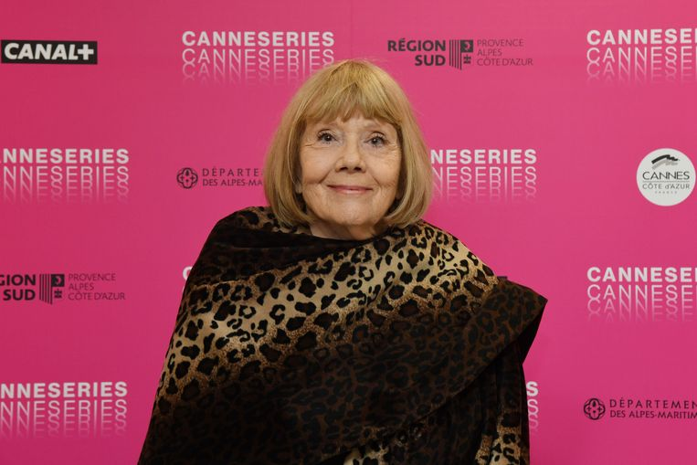 Diana Rigg in Cannes in april 2019. Beeld Photo News