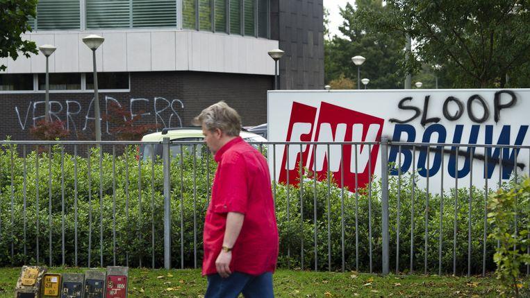 De FNV-leden waren tegen het pensioenakkoord. Beeld ANP
