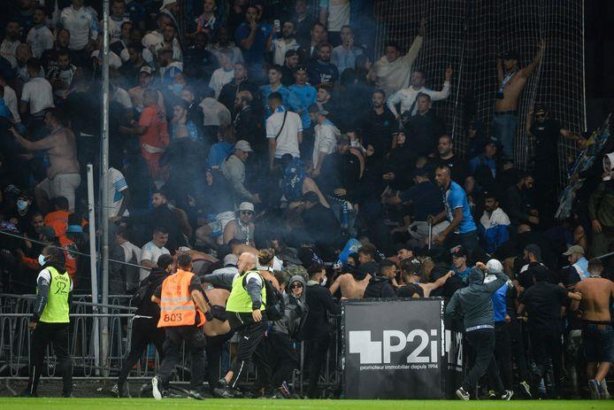 De supporters van Marseille zorgden gisteravond voor de nodige onrust.