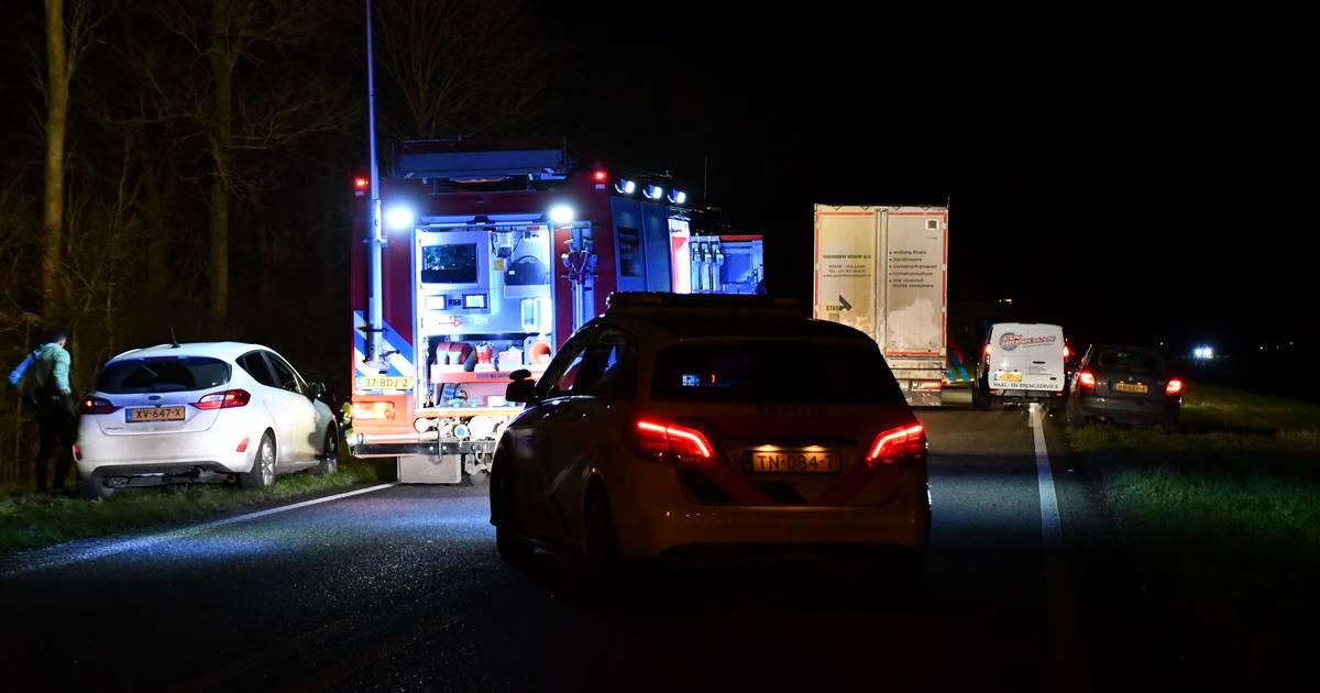 Ernstig ongeluk op N305 bij Biddinghuizen: traumahelikopter ingezet.