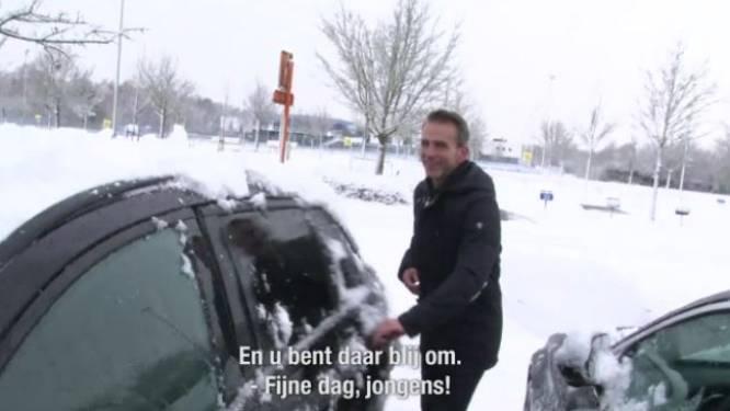 """Stuivenberg kruist onze videoman na laatste training: """"Geniet van de sneeuw!"""""""