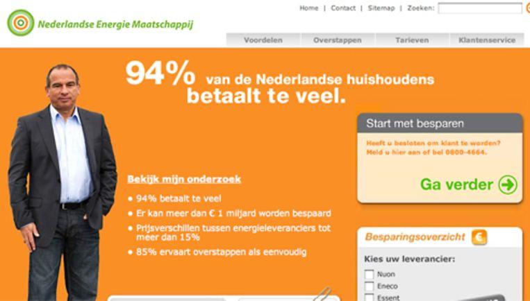 NL Energie zegt sinds 2 juli 'onder publieke druk' te zijn gestopt met haar omstreden belpraktijken. Beeld nederlandenergie.nl Beeld