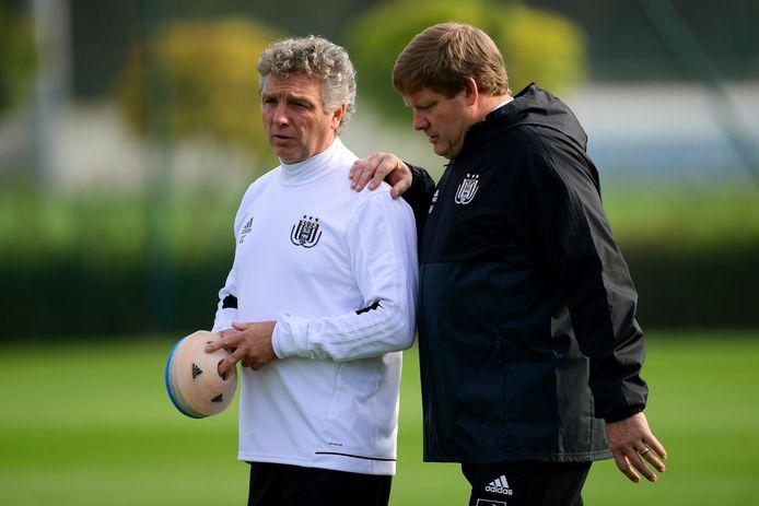 Gino Caen met Hein Vanhaezebrouck toen het duo nog aan het roer stond bij Anderlecht.