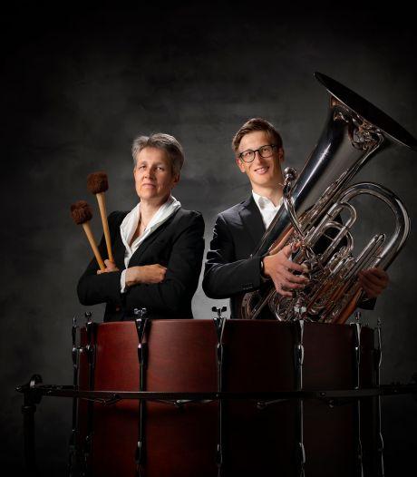 Een cd van moeder en zoon, voor slagwerk en tuba: dat is inderdaad 'Another koek'