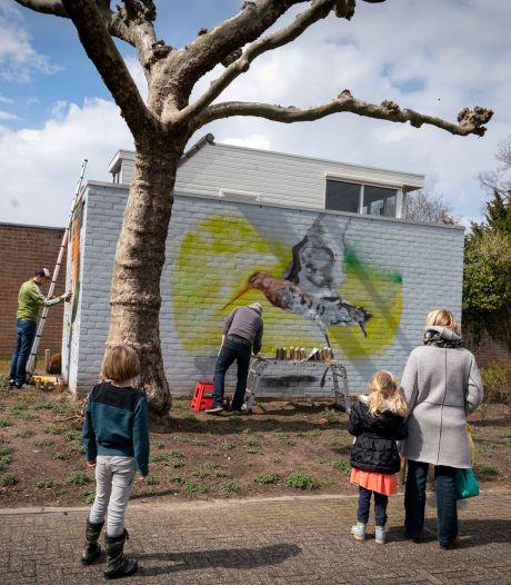 Transformatorhuisje in Huissense wijk Zilverkamp ondergaat dankzij Arnhemse kunstenaars een transformatie